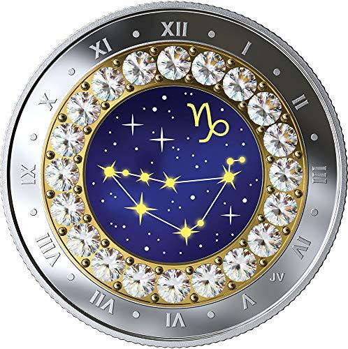 2019 CA Canada Zodiac 2019 PowerCoin CAPRICORN Zodiac Swarovski Crystal Silver Coin 5$ Canada 2019 Proof