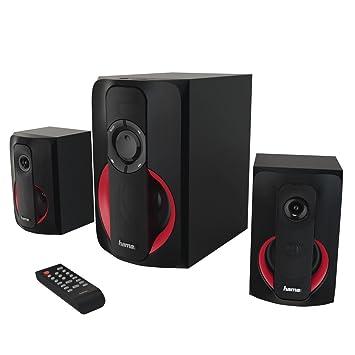 Hama PR-2180 2.1channels 80W Negro, Rojo Conjunto de Altavoces - Set de