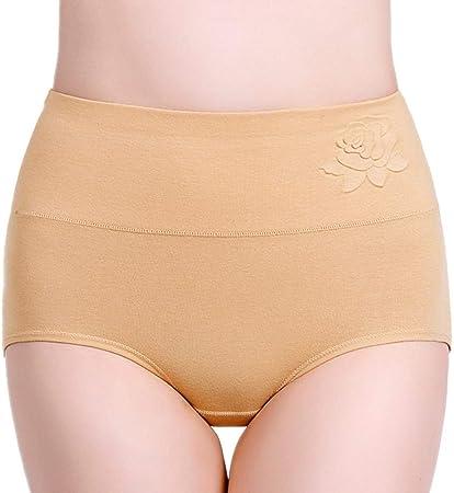 YWRD Bragas Algodon Altas Braguitas Mujer Ropa Interior para Mujeres De Bragas de algodón Pantalones de la Ropa Interior de Las Mujeres Apricot,L: Amazon.es: Hogar