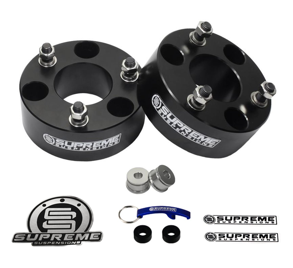 Amazon Com Supreme Suspensions Ford Expedition Lift Kit   Front Suspension Lift Cnc Machined T Aircraft Billet Expedition Leveling Kit Black Pro