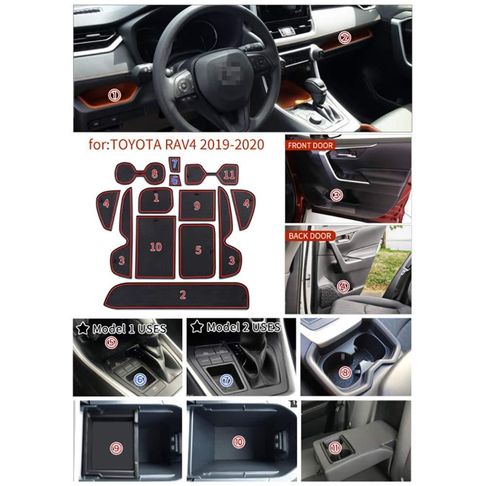 AniFM Ranura para Puerta corrediza Ranura de l/átex de Goma Coj/ín Interior Antipolvo para RAV4 2019 2020 XA50 RAV 4 50 Accesorios para Auto,Brown