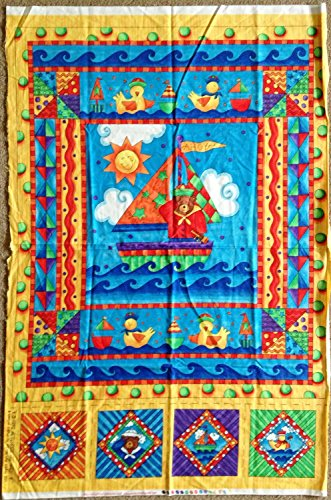 ships-ahoy-teddy-bear-rubber-ducks-fabric-childs-quilt-panel-designed-by-kari-pearson-great-for-quil