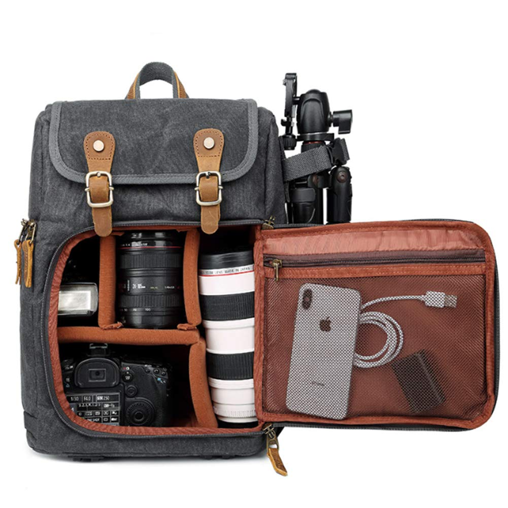 Small Brown PU Leather  Bag with Customisable Inserts for the Z-cam E1