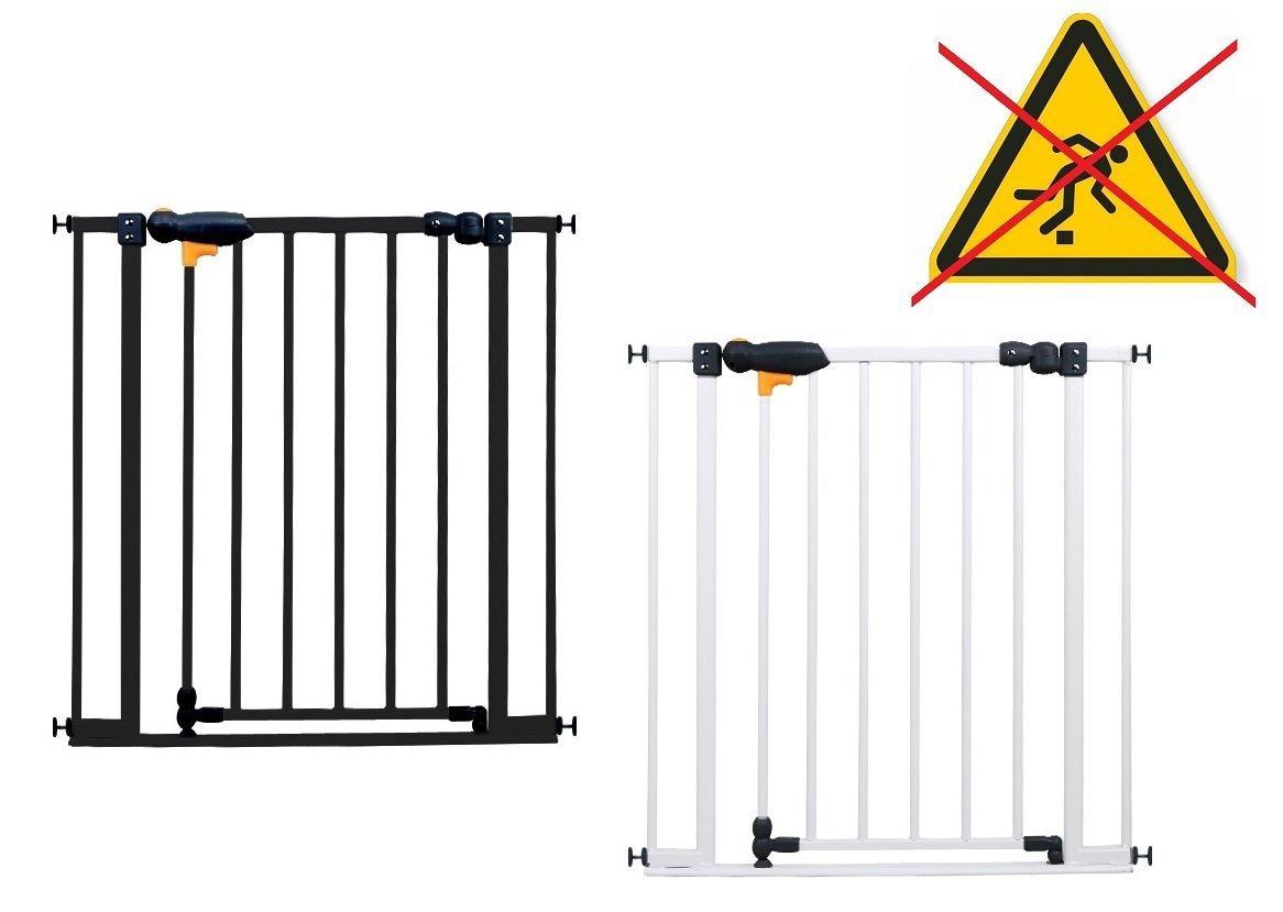 van Hoogen® SAFE STEP barrière de sécurité pour les escaliers et la porte | longueurs de 73 cm-142 cm | hauteur 77cm | sans perçage | à coincer | 2 couleurs | Montage facile Impag GmbH