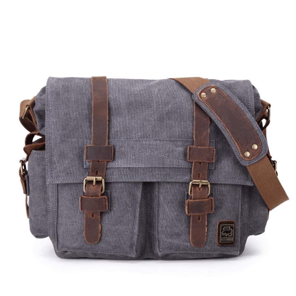 Color : 1#, Size : S DONGLU Mens Canvas Laptop Bag Messenger Bag Shoulder Messenger Briefcase