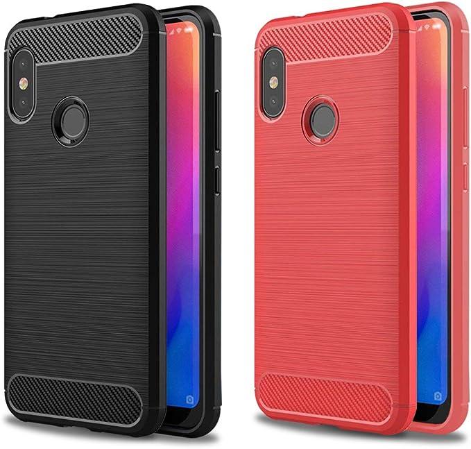 2X Funda Xiaomi Mi A2 Lite, XiaoXiMi Carcasa de Silicona Ultra ...