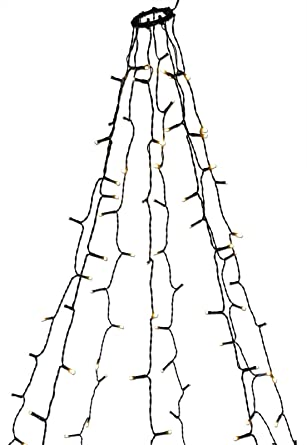 Baum Lichterkette 160 Led Mit Ring Zum Einfachen Aufhängen Amazon