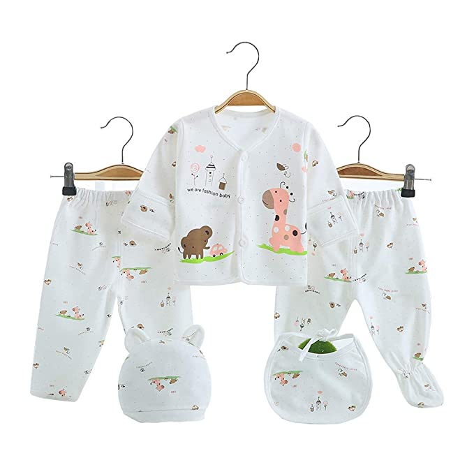 c129ce82b210a 5PCS Newborn Girl Boy Clothes Unisex Photography Outfits Baby Gifts Layette  Sets