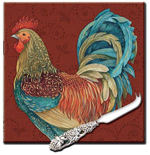 rooster cheese board - 2