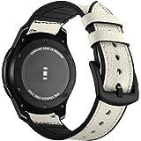 Aottom Compatible con Correa Galaxy Watch 46mm, Cuero Correas Samsung Gear S3 Frontier Banda 22mm Smartwatch Pulseras…