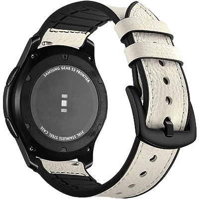 Correa Samsung Gear S3 Frontier Cuero, Aottom Correas Reloj Samsung Gear S3 Classic, Correa Galaxy Watch 46mm Banda Reemplazo de Pulseras de repuesto de hebilla Acero Inoxidable Deporte Strap