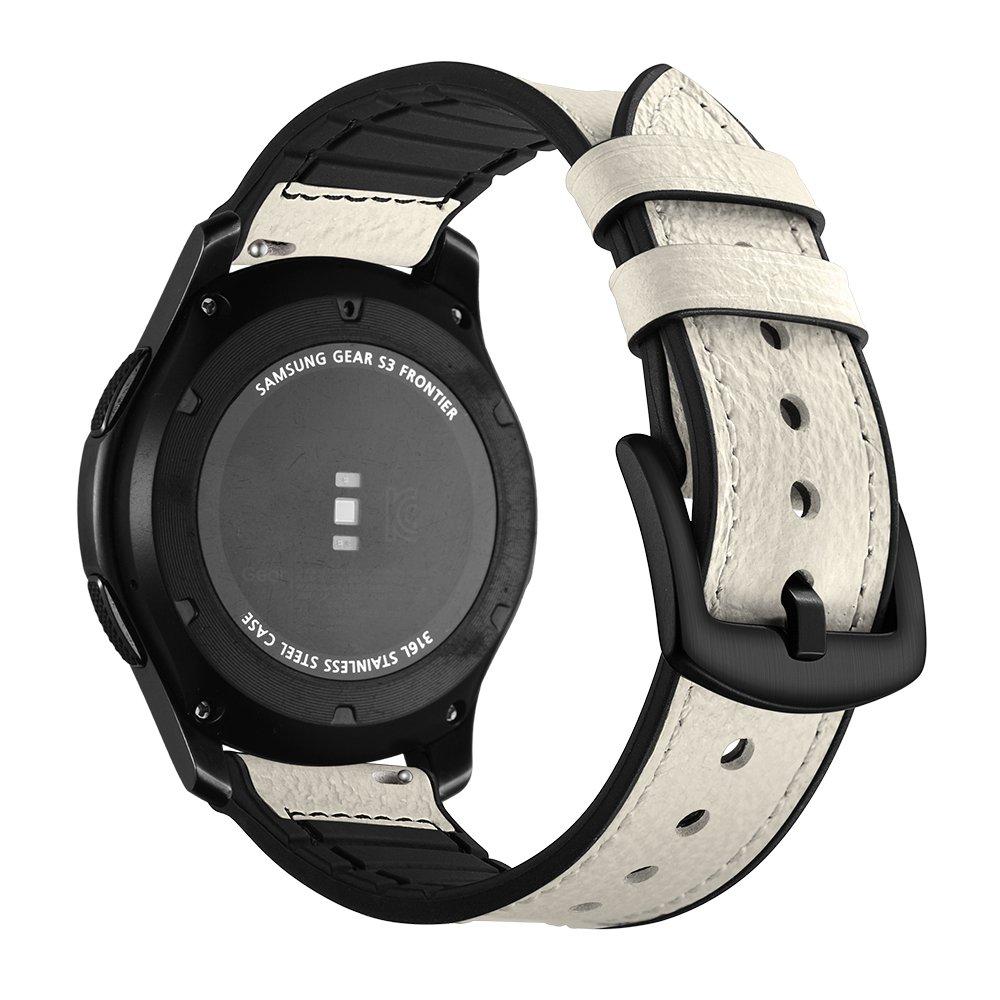 Correa Samsung Gear S3 Frontier Cuero, Aottom Correas Reloj Samsung Gear S3 Classic, Correa Galaxy Watch 46mm Banda Reemplazo de Pulseras de repuesto ...