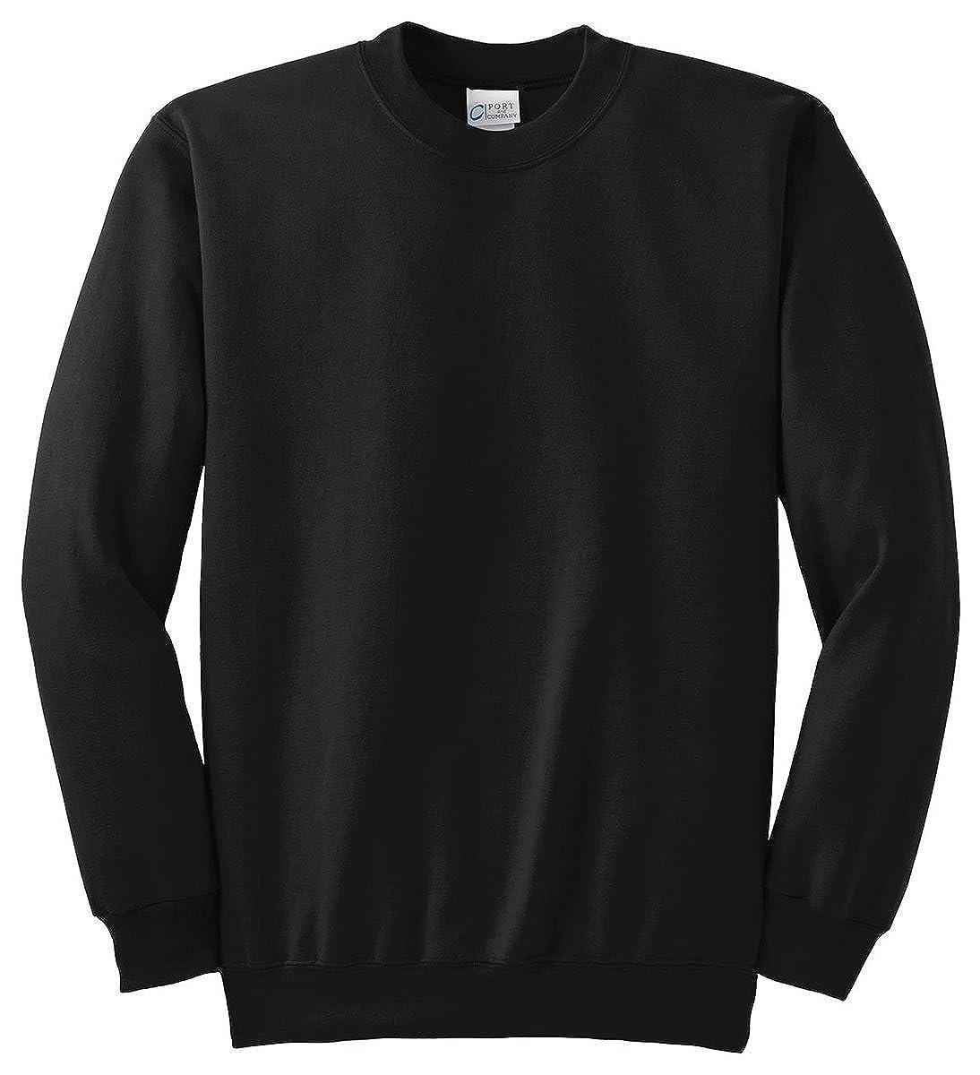 Port /& Company Mens Knit Collar Crewneck Sweatshirt/_Jet Black/_XXXX-Large
