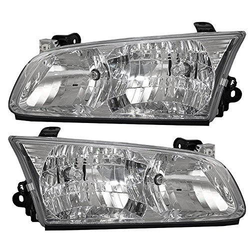 Driver and Passenger Headlights Headlamps Replacement for Toyota 81150-AA020 81110-AA020