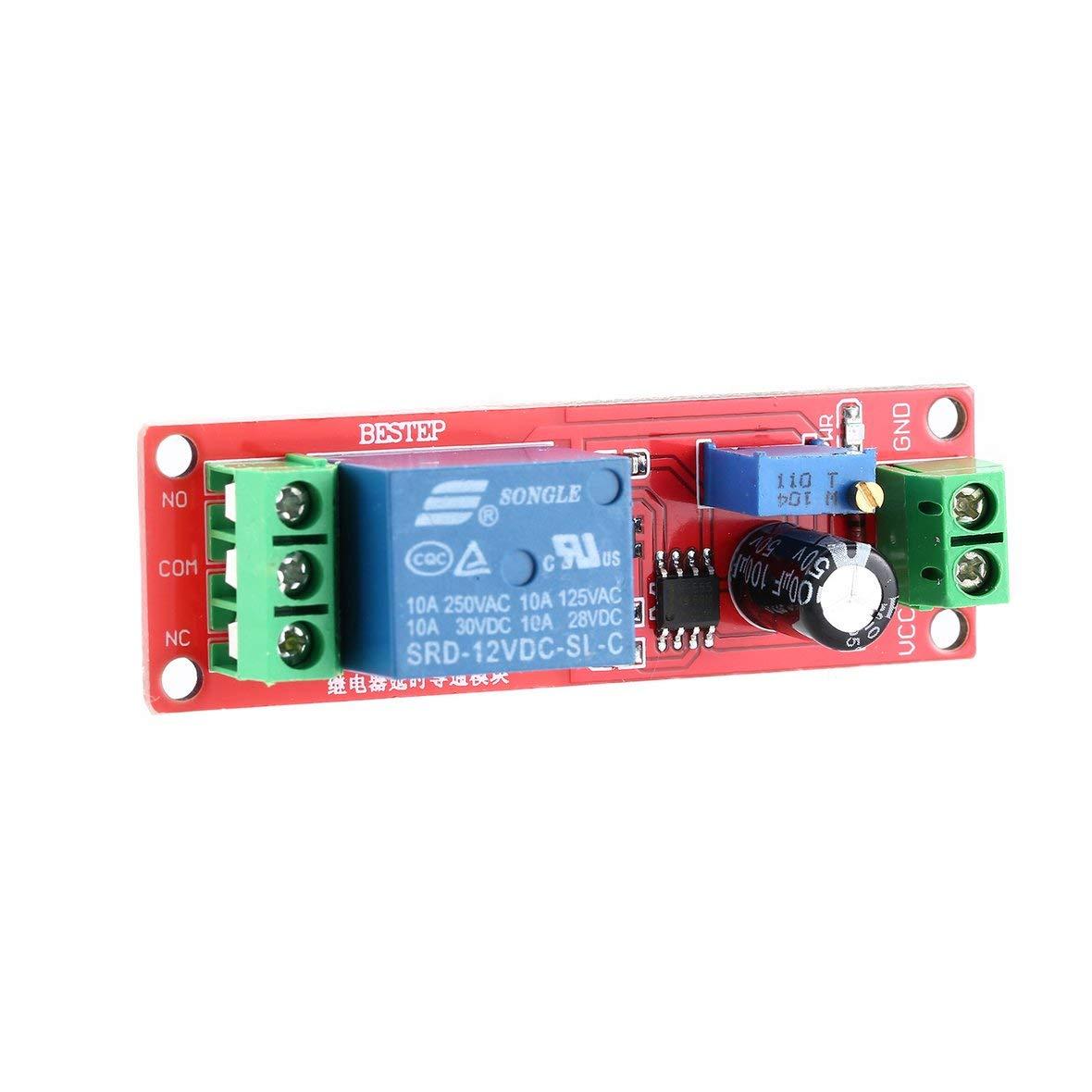 per apparecchiature elettroniche modulo rel/è temporizzato Interruttore di Ritardo monostabile Commutatore Regolabile Heaviesk Interruttore ritardato di Tempo 12V per Auto