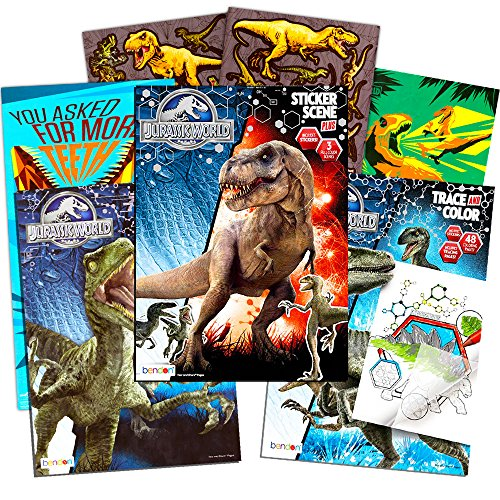 Jurassic World Coloring Book Set with Stickers and Posters (3 Books) ()