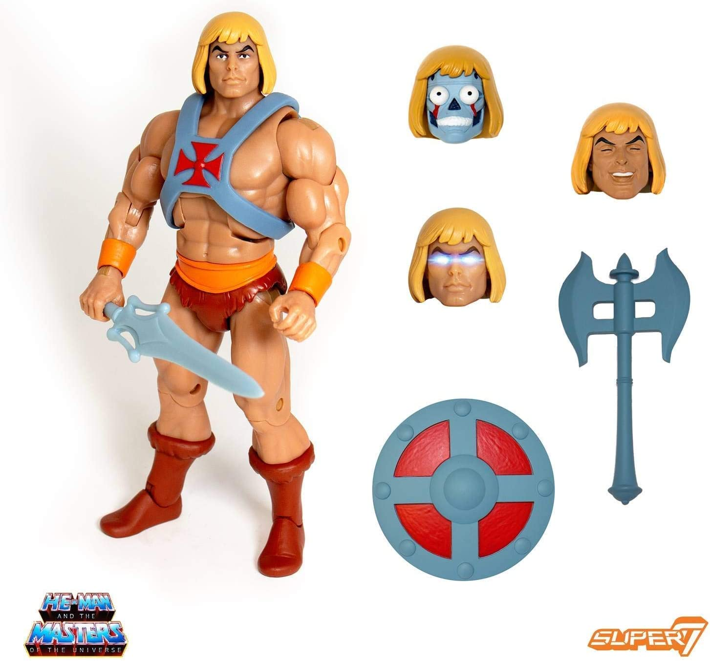 Super 7 Vintage Masters Of The Universe Robot HE-MAN-NEW EN STOCK