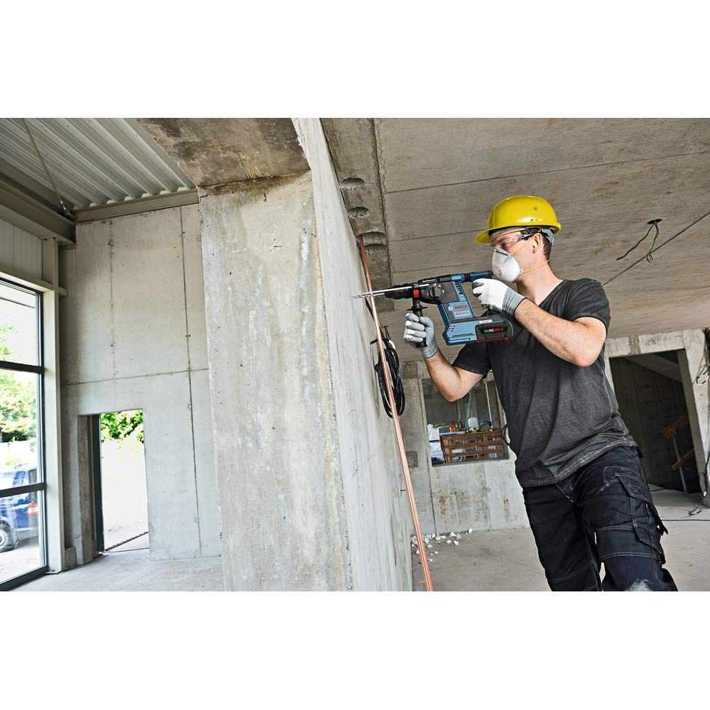Bosch GBH18V-26K24-RT 6.3 Ah Cordless Lithium-Ion Brushless 1 in. SDS-Plus Bulldog Rotary Hammer Kit (Renewed) by Bosch (Image #6)