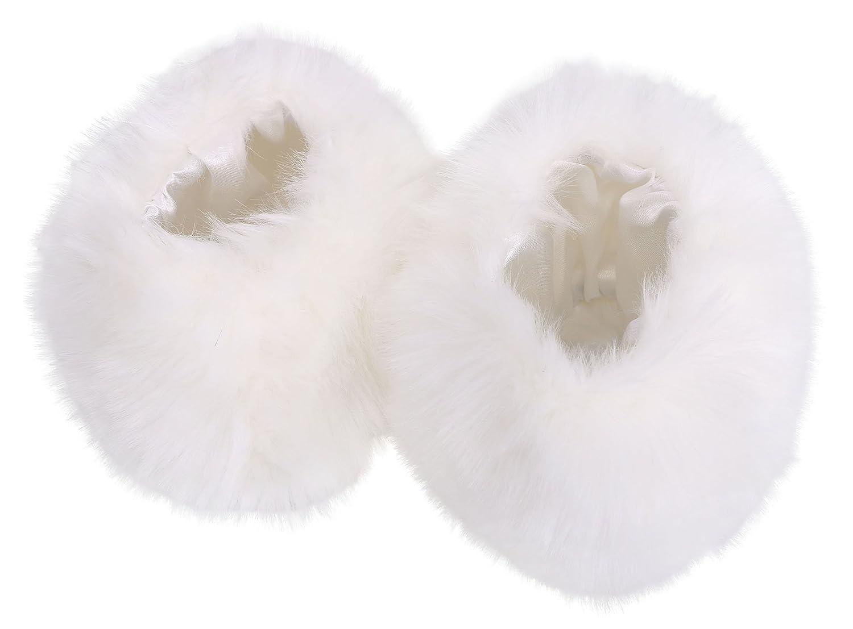 AshopZ Fuzzy Furry Faux Fur Wrist Arm Warmer Cuff Cover Wristband Black PartialUpdate