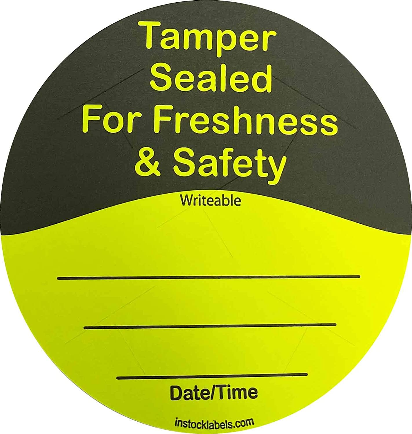 Fluorescent Yellow Food Delivery Tamper Evident Labels 3