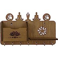 Sehaz Artworks Yoga Asanas-WT-KeyHolder Wooden Key Holder (7 Hooks)