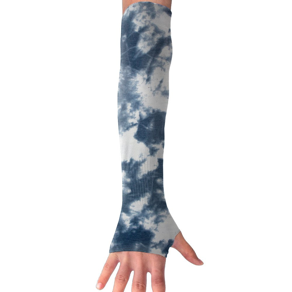 Suining Unisex Tie-dye Sky Style Sunscreen Outdoor Travel Arm Warmer Long Sleeves Glove
