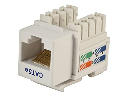 Amazon.com: Monoprice Cat5E Punch Down Keystone Jack - White ... on rj45 cable wiring, cat 5 wiring diagram, rj45 plug diagram, rj11 plug diagram, power jack wiring diagram, cisco switch port diagram, ethernet connector diagram, cat5e wiring diagram, cat 6 wiring diagram, rj45 connector plug, rj45 connections diagram, rj45 plug wiring, cat 5 cable color code diagram, usb wiring diagram, rj45 jack diagram, cat 7 wiring diagram, rj45 crossover diagram, rj45 to rj11 wiring, rj45 connector block diagram, rj45 pinout diagram,