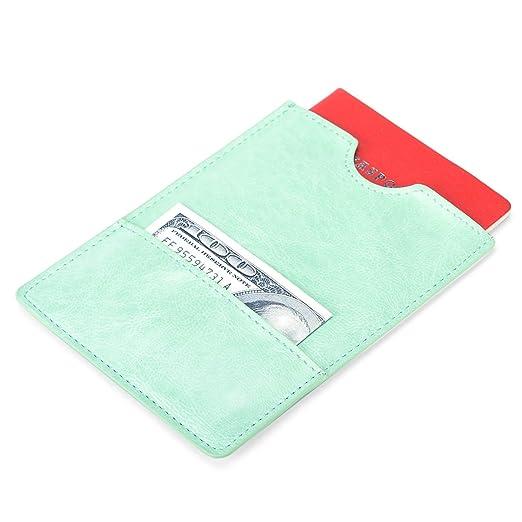 ab136f8603bb XeYOU Passport Holder Cover - Ultra Slim Premium Vegan Leather Travel  Wallet Case Cover