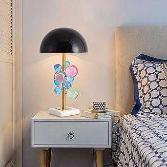 Lámpara de mesa de bola de burbujas de cristal posmoderna Luces de ...
