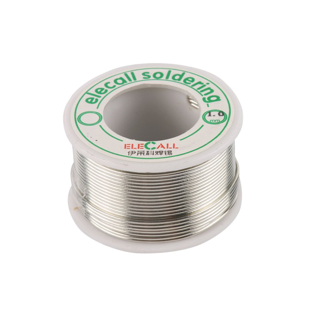 Elecall Tin Lead Solder Wire 99.3% Tin Lead Free Rosin Core Flux Iron Welding Tool 1.0mm Diameter Pocket Pack in Storage Tube For Electrical and Electronics DIY Work
