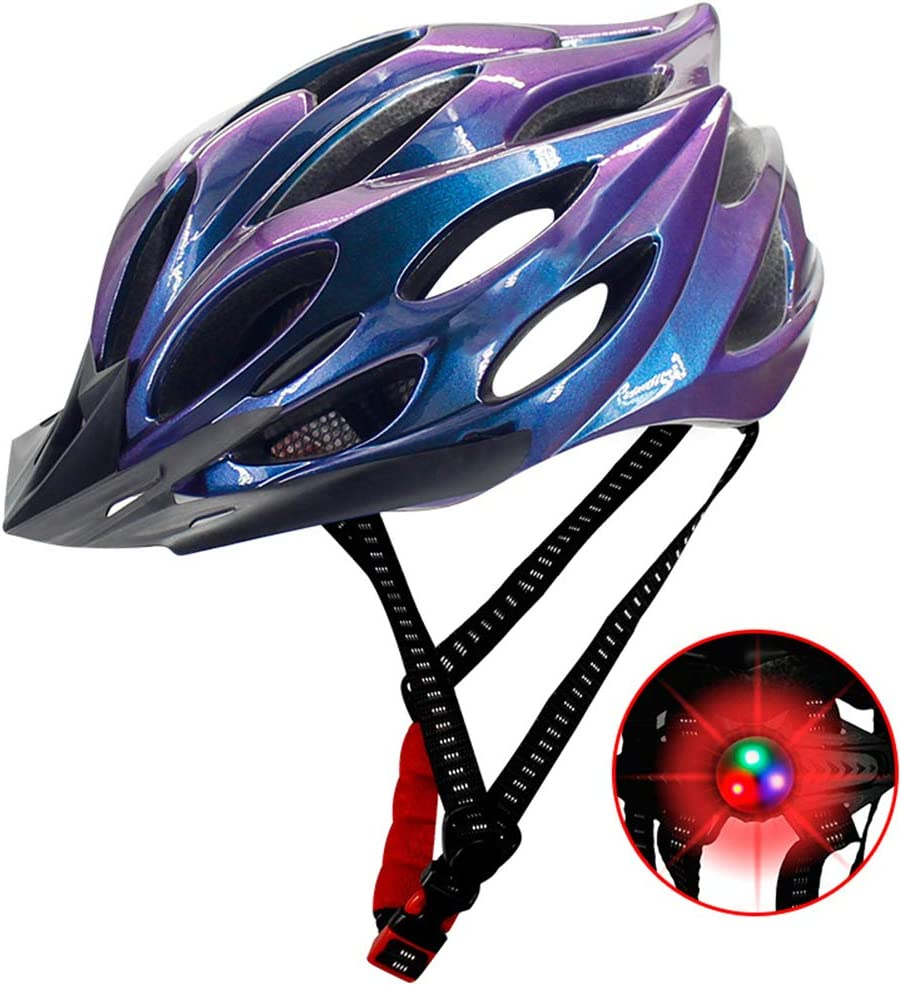 rosa carretera BSTQC Casco de bicicleta de seguridad ajustable para bicicleta de monta/ña casco de bicicleta para hombres y mujeres