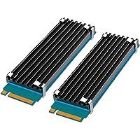 [2 Packs] GLOTRENDS zestawy radiatorów M.2 nadające się do PS5/PC, o grubości 0.12 cala (3mm) żeberka chłodząca M.2 do…