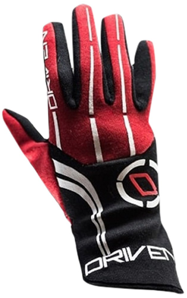 Driven Motorsport Men's Nomex Gloves (Black/Red, XX-Large)