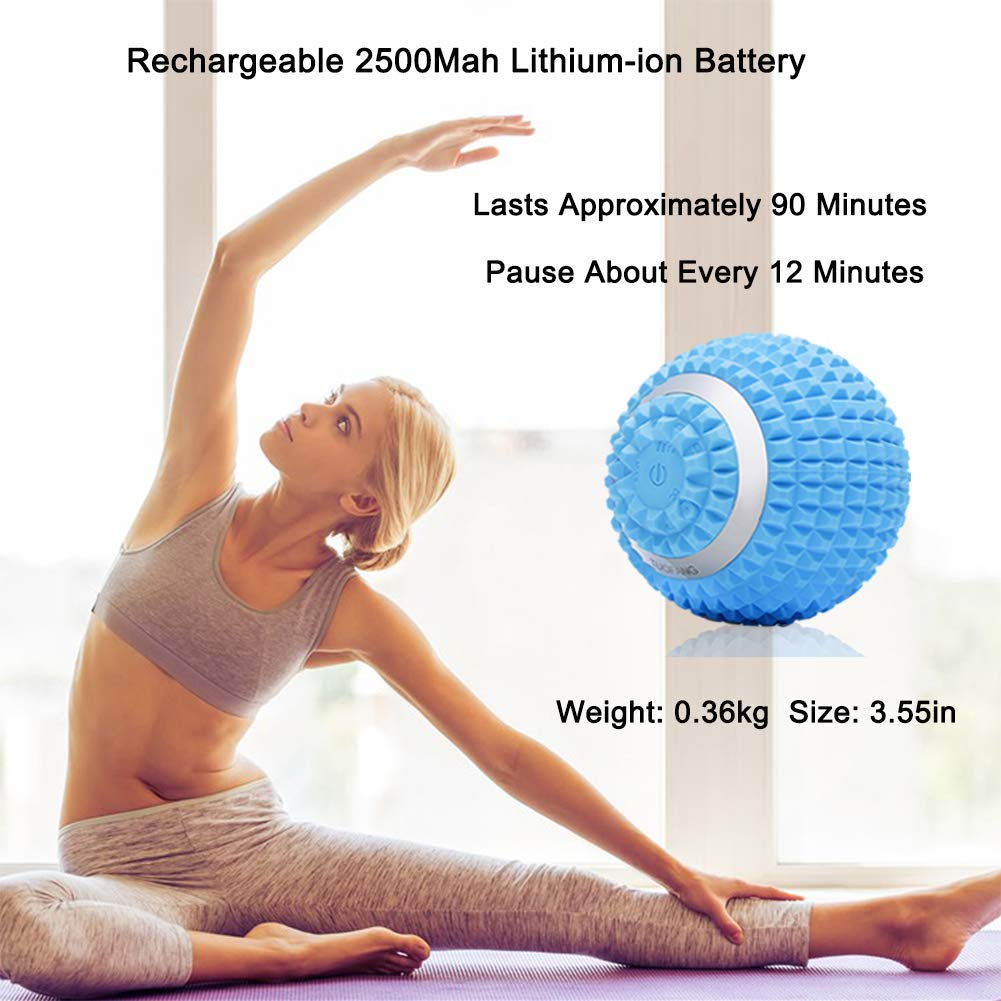 Amazon.com: Pelota de masaje vibrante de 4 velocidades ...