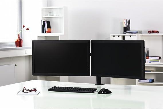 Hama Monitor Halterung Für 2 Bildschirme Schwarz Computer Zubehör