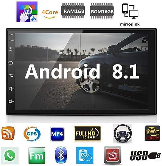 Liamostee Coche Navegación GPS Radio Reproductor Bluetooth Full HD 1080P 7 Pulgadas WiFi Música RAM 1GB: Amazon.es: Hogar