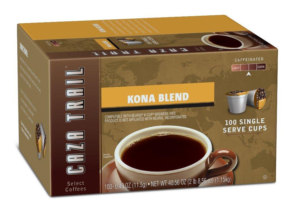 Caza Trail Coffee, Kona Blend, 100 count
