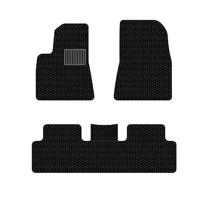Model 3 All Weather Waterproof Floor Mats Compatible for Tesla Model 3 - Heavy Duty - Black Rubber Environmental Materials Car Carpet Model 3 (3 Piece a Set) (Floor mats): Automotive