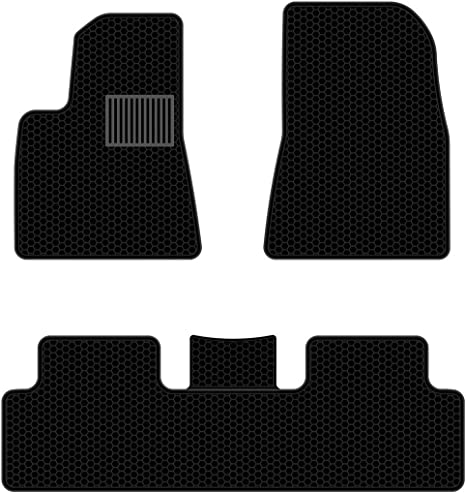 **OEM** NEW 3 PC set of Tesla Model S black Carpeted Floor Mat Free Shipping!!