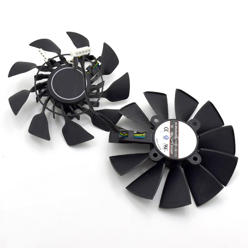 FD9015U12S 95mm DC 12V 0.55A 5PIN Dual Cooling Fan For ASUS sTRIX GTX970 980 780 STRIX-R928 Cooling Fan (2pcs/lot) by Z.N.Z