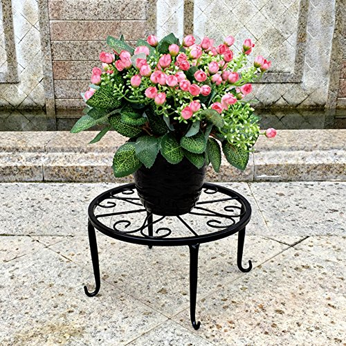 Pack of 3 Retro Plants Round Stand Metal Flower Pot Holder Pot Display Supporting for Indoor Outdoor Garden Patio by Feileng