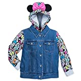 Disney Minnie Mouse Denim Hooded Jacket for Girls Size 4 Multi