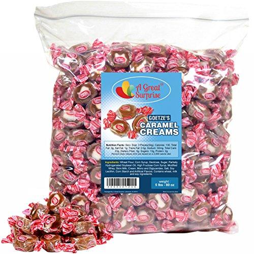 Goetze's Caramel Creams, 5 LB Bulk Candy]()