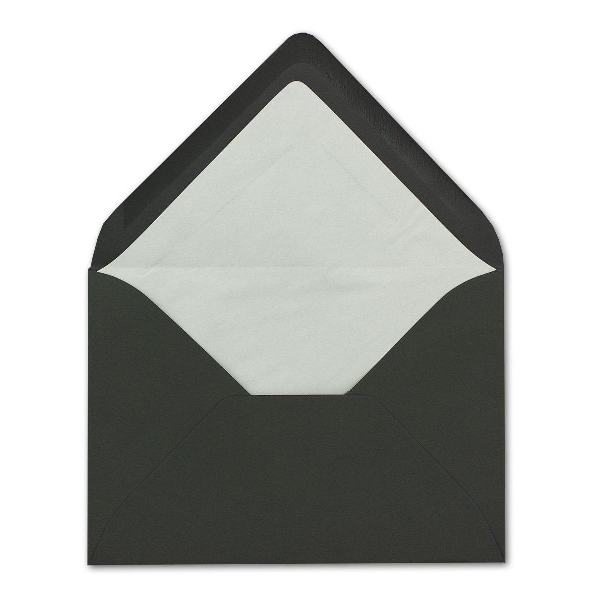 formato B6 con rivestimento interno bianco 50 Umschl/äge blu notte buste Neuser di dimensioni: 17,6/x 12,5/cm serie: FarbenFroh giunzione da inumidire; colorate