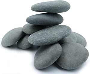 """Ultra Large River Rocks for Painting – 10 Extra Big Rocks, 3.5"""" - 5"""" Inch Flat Smooth Stones, 6-7 LB. of Craft Rocks for Rock Painting, Kindness Stones, Painting Rocks Supplies for Adults and Kids"""