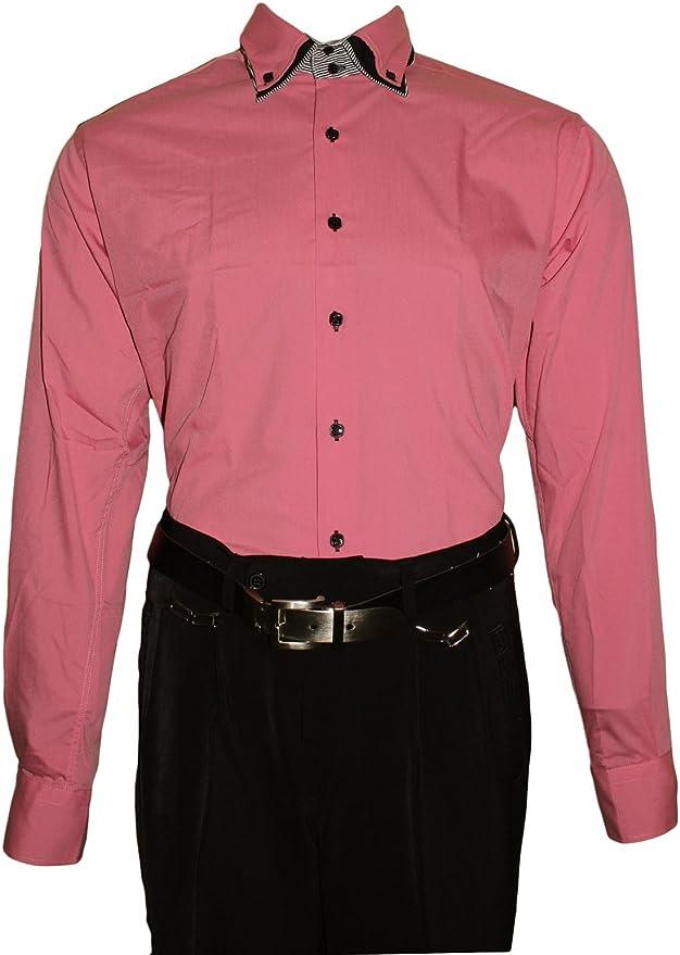 Camisa para hombre – 3 Slim Fit entallado Cuello 2 Botón ...