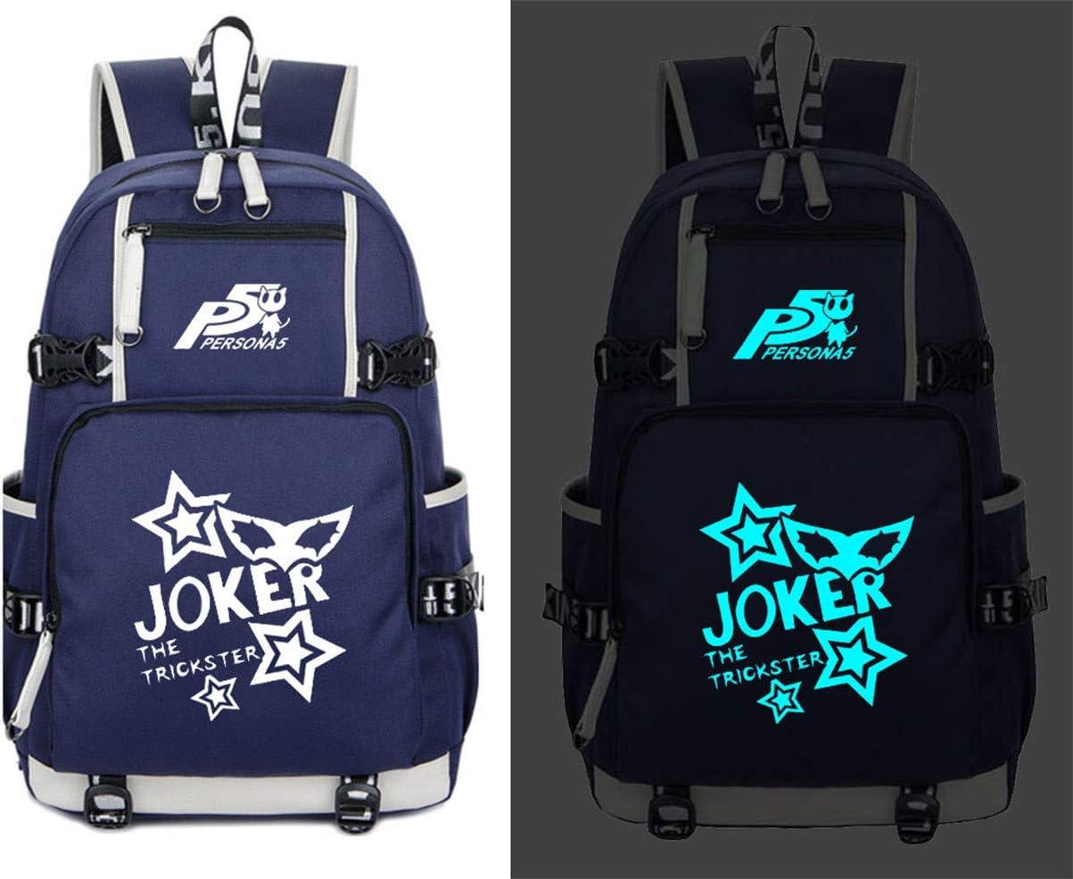 Cosstars Persona Game Luminous Backpack Student Schoolbag Laptop Book Bag Casual Dayback Black-1