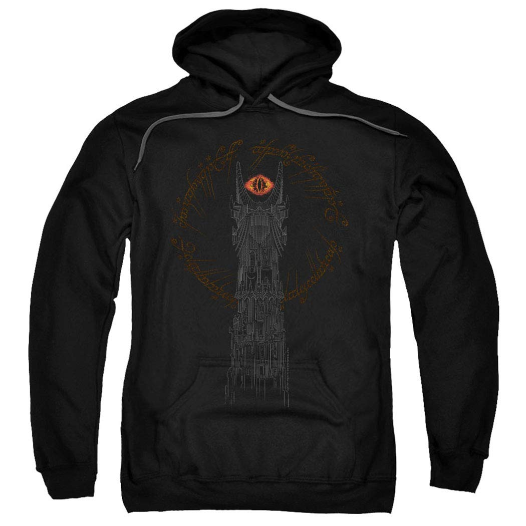 ویکالا · خرید  اصل اورجینال · خرید از آمازون · Lord of The Rings Tower of Sauron Eye Pullover Hoodie Sweatshirt & Stickers (X-Large) wekala · ویکالا
