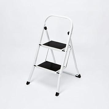 Escalera para desván de seguridad, plegable, 2 pasos, antideslizante, resistente: Amazon.es: Bricolaje y herramientas