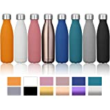 KINGSO 17oz Double Wall Vacuum Cool Insulation Stainless Steel Water Bottle Leak- proof and No Sweating Perfect for Summer Outdoor Sports Camping Hiking Cycling